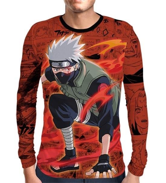 Camisa Manga Longa Naruto - Exclusiva Kakashi Hatake - Full Print