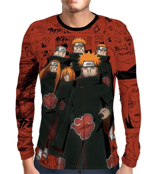 Camisa Manga Longa Naruto - Pain Six Paths - Full Print