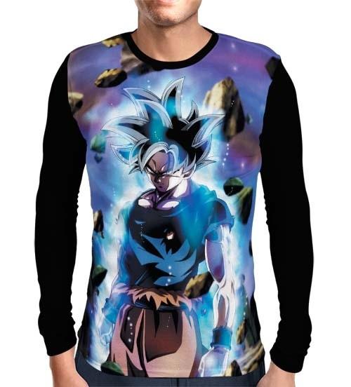 Camisa Manga Longa Migatte Goku - Dragon Ball Super