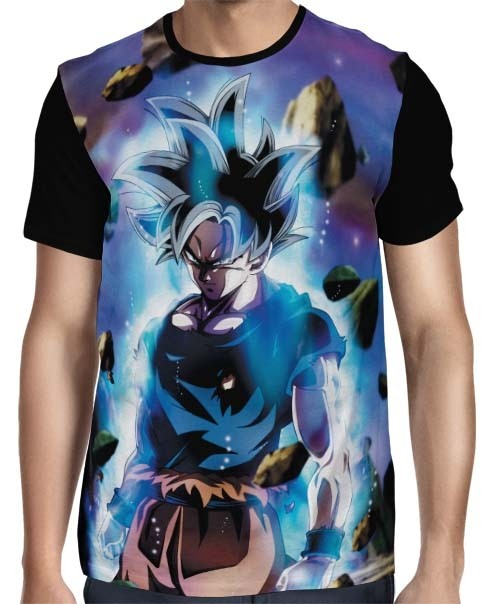 Camisa Full Migatte Goku - Dragon Ball Super