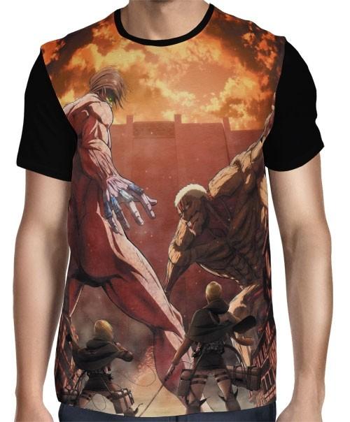 Camisa FULL Titans Fight - Shingeki no Kyojin
