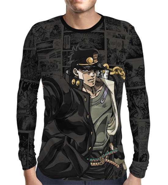 Camisa Manga Longa Print Dark Mangá Jotaro Kujo - Jojo's Bizarre Adventure