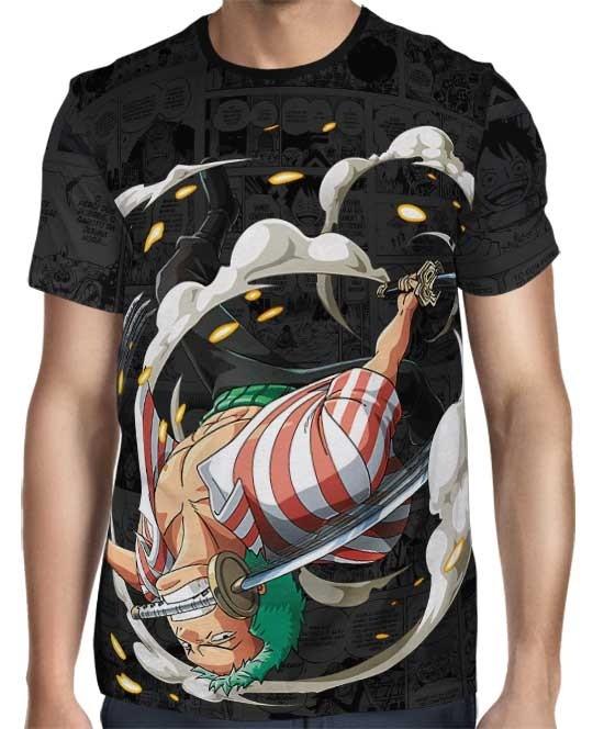 Camisa Dark Mangá Zoro Sword - One Piece - Full Print