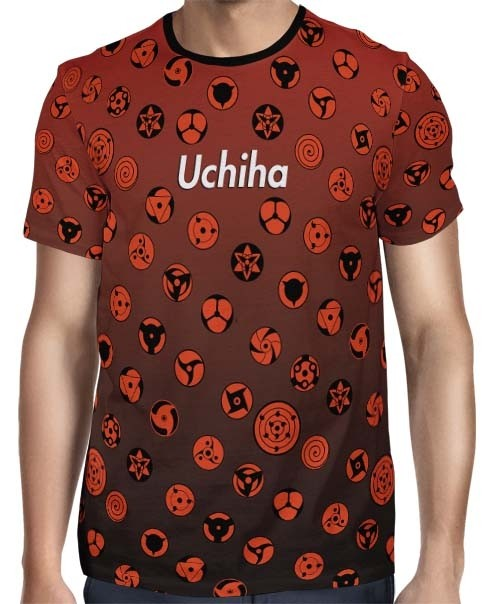 Camisa FULL Print Red Uchiha Sharingans - Naruto