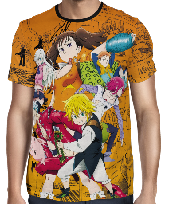 Camisa Nanatsu no Taizai Pecados Capitais Full Print