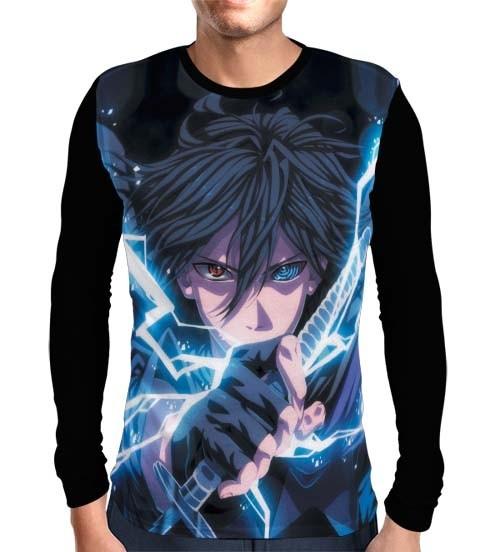 Camisa Manga Longa Sasuke Sharingan Powers - Naruto