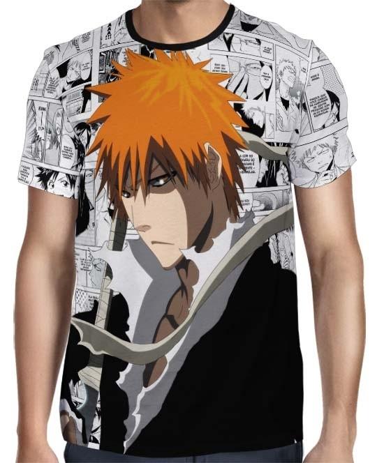 Camisa Full Print - Bleach - Mangá Face Ichigo