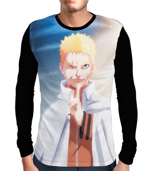 Camisa Manga Longa Naruto Seventh Hokage Modelo 2