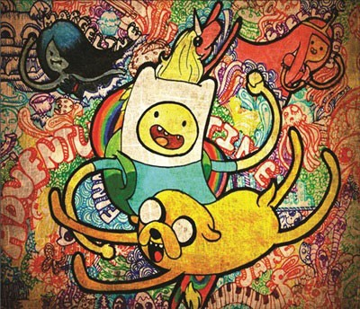 Mouse Pad - Adventure Time Psicodelico