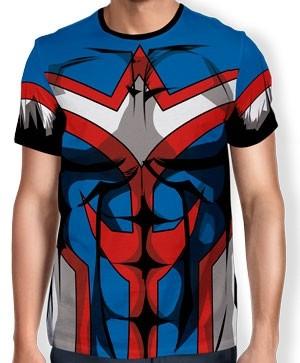 Camisa Full Print Uniforme - All Might - Boku no Hero