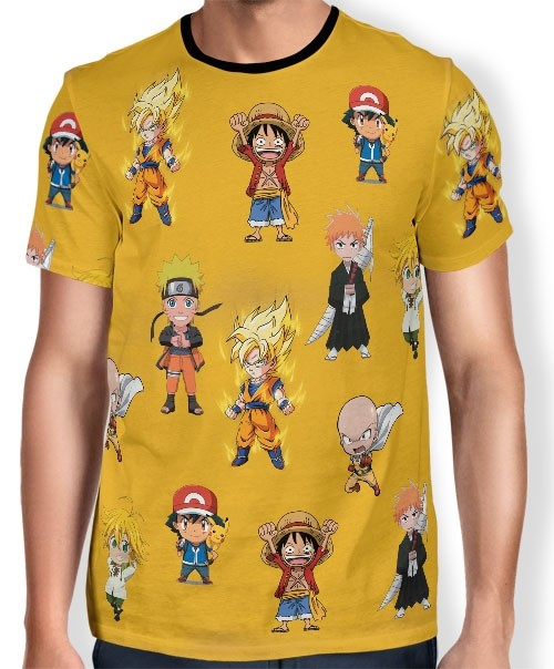 Camisa Full Print Chibi - Best Animes