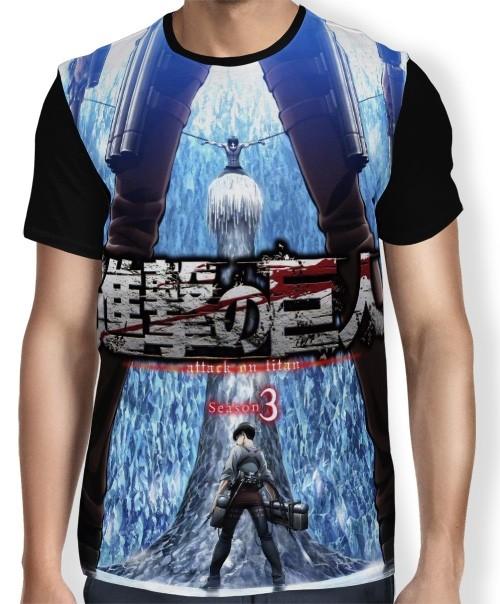 Camisa FULL Blue Season 3 - Shingeki no Kyojin
