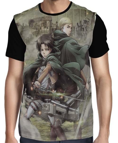 Camisa FULL Levi x Erwin - Shingeki no Kyojin