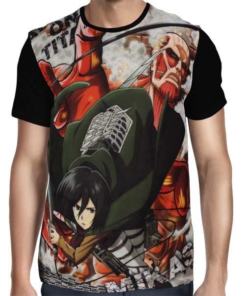 Camisa FULL Mikasa Ackerman - Shingeki no Kyojin