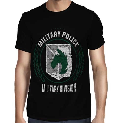 Camisa FULL Military Police - Só Frente - Shingeki no Kyojin