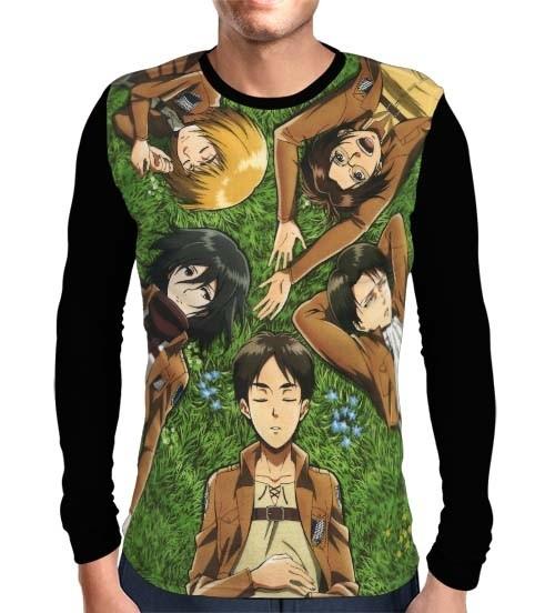 Camisa Manga Longa Rilex Recon - Shingeki no Kyojin