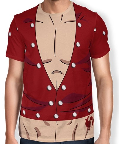 Camisa Full Print Uniforme - Ban - Nanatsu no Taizai