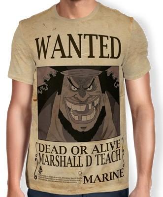 Camisa Full Print Wanted Barba Negra Marshal D Teach V2 - One Piece