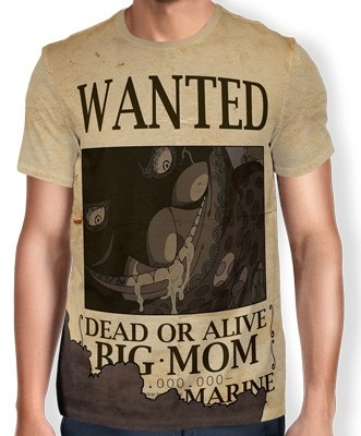 Camisa Full Print Wanted Big Mom Charlotte Linlin - One Piece