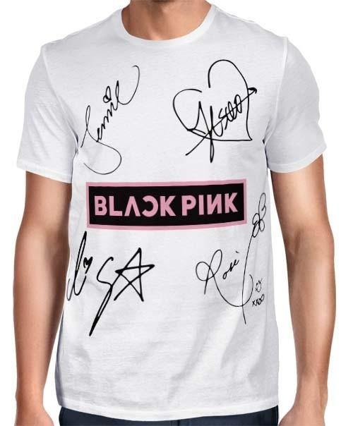 Camisa FULL Blackpink - Autographs Branca - Só Frente - K-Pop