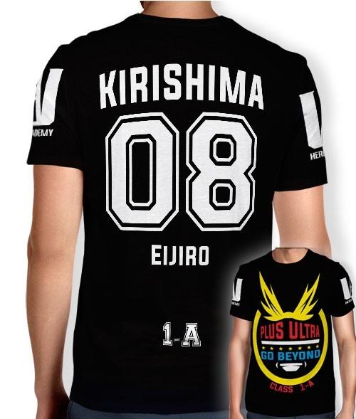 Camisa Full PRINT Go Beyond - Kirishima Eijiro - Boku No Hero Academia