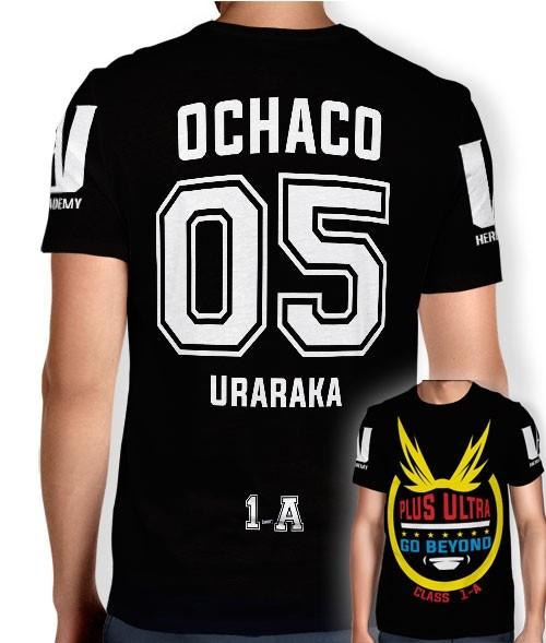 Camisa Full PRINT Go Beyond - Ochaco Uraraka - Boku No Hero Academia
