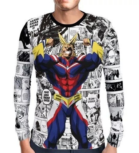 Camisa Manga Longa PRINT All Might - Boku No Hero Academia