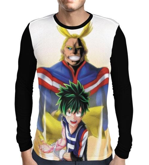 Camisa Manga Longa Full One For All - Deku- All Might - Boku No Hero Academia