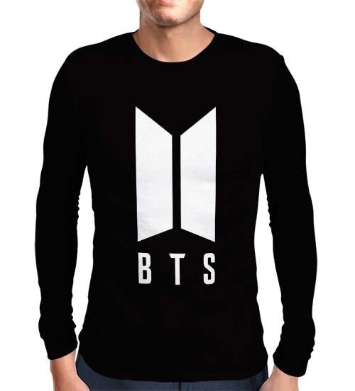 Camisa Manga Longa BTS Logo - Só Frente -K-Pop