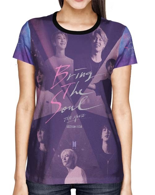 Camisa Full PRINT BTS Movie - Bring The Soul - K-Pop