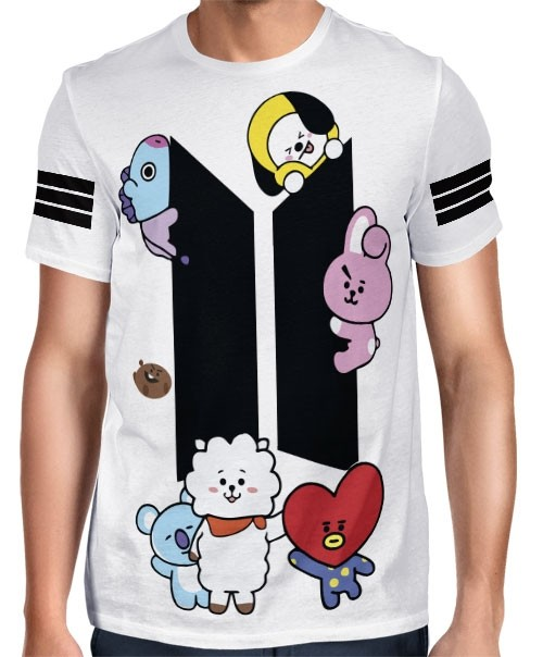 Camisa Full PRINT BTS - UNIVERSTAR BT21 - Modelo 2 - K-Pop