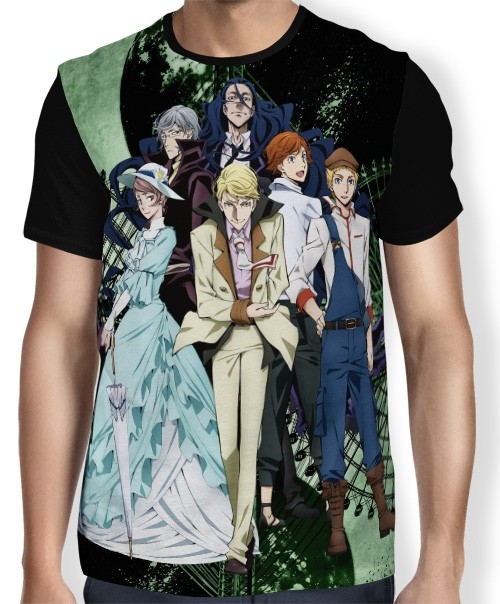 Camisa FULL JOHN, MARK, LOVECRAFT - BUNGOU STRAY DOGS