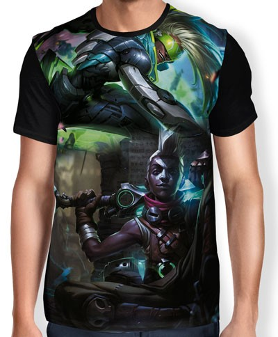 Camisa FULL Ekko - League of Legends