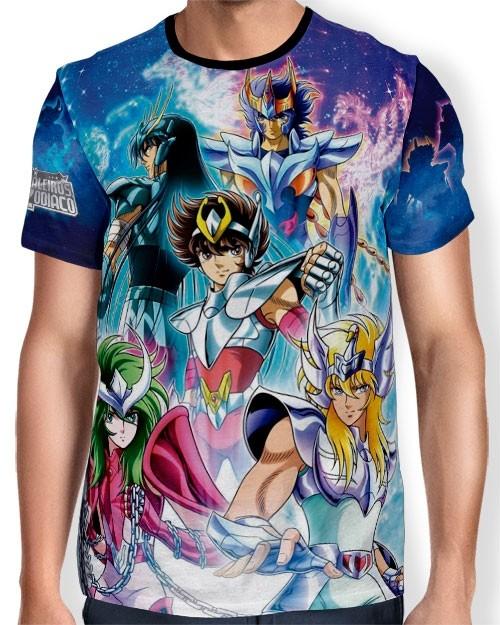 Camisa Full Print - Cavaleiros de Bronze - Saint Seiya