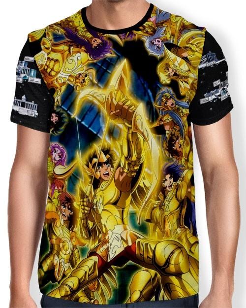 Camisa Full Print - Cavaleiros de Ouro - Saint Seiya