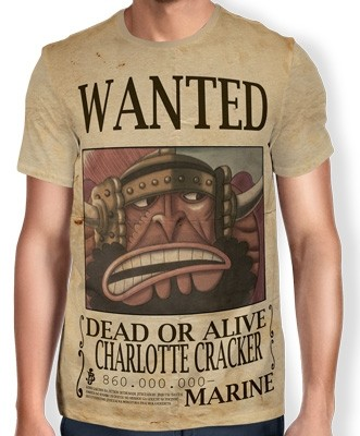 Camisa Full Print Wanted Charlotte Cracker - One Piece