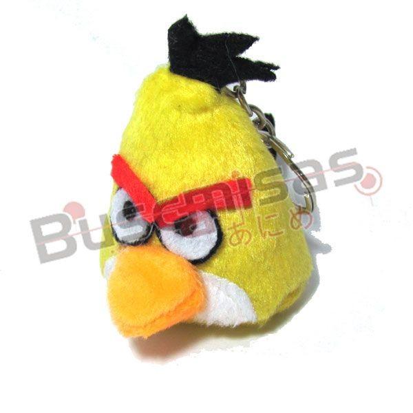 CHPL-03 - Chaveiro Pelucia Angry Bird - Amarelo