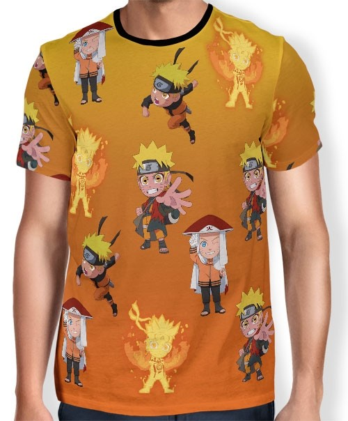 Camisa FULL Print Chibi Naruto Evolution