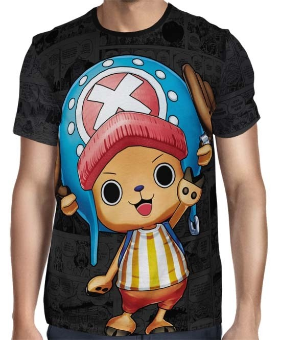 Camisa Dark Mangá Chopper - One Piece - Full Print