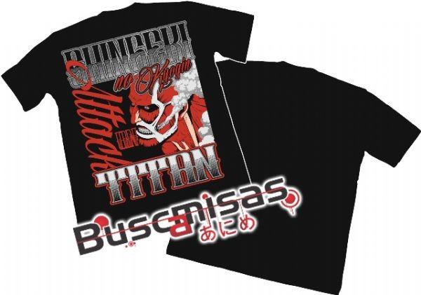 Camisa Shingeki no Kyojin - Titan Colossal - Modelo 04