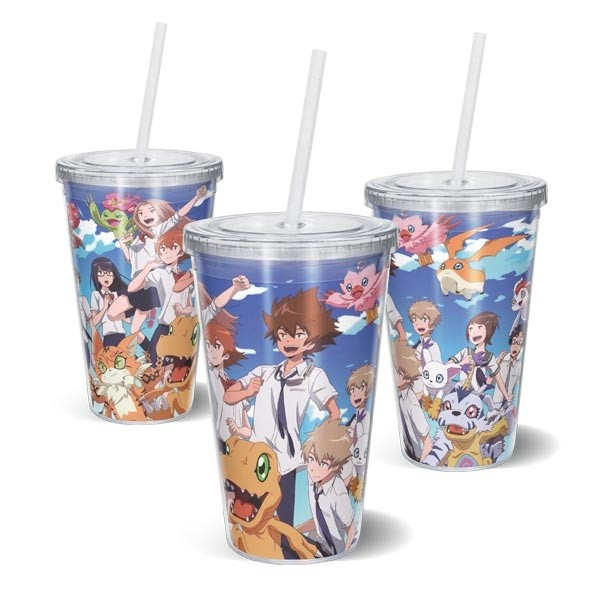 Copo Acrilico Digimon Adventure Tri
