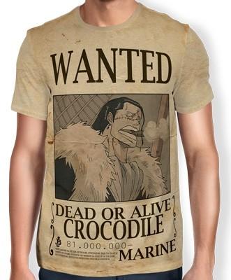 Camisa Full Print Wanted Crocodile - One Piece