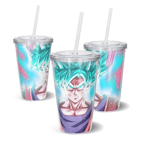 Copo Acrilico DB - SSJ Blue Kaioken Goku