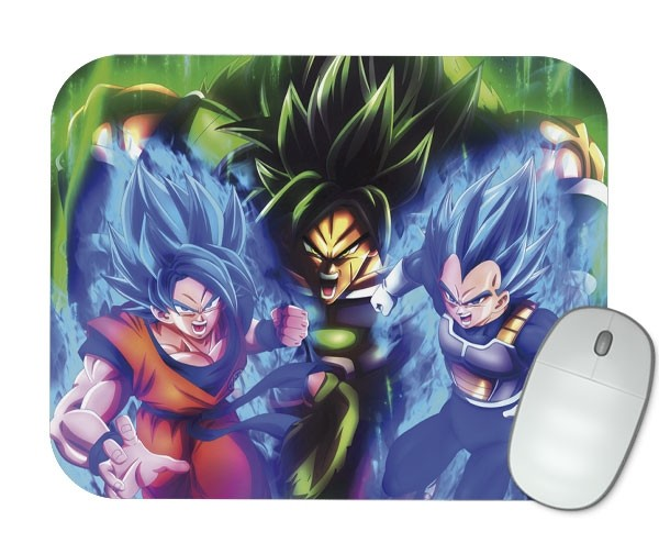 Mouse Pad - Goku, Vegeta e Broly - Dragon Ball Super
