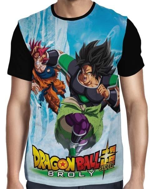 Camisa Full Broly Vs Goku - Dragon Ball Super