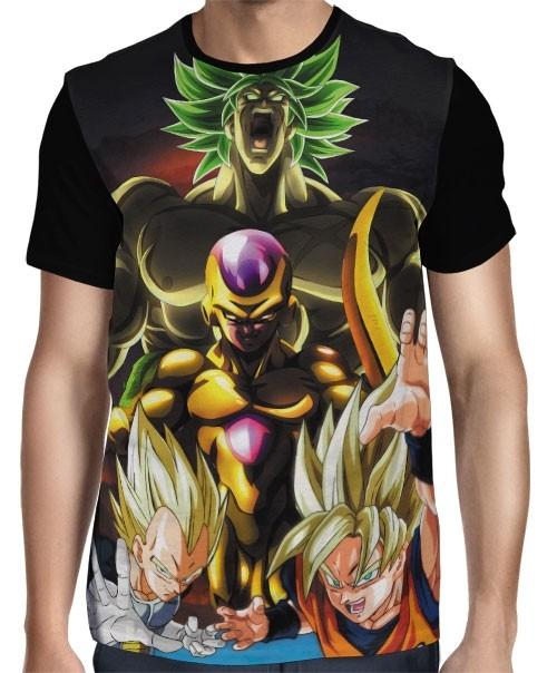 Camisa Full Freeza - Goku- Vegeta - Broly - Dragon Ball Super