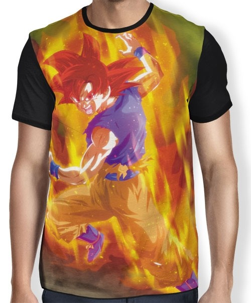 Camisa Full God Goku - Dragon Ball Super Broly