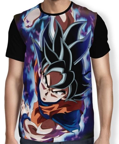 Camisa Full Soco Goku - Dragon Ball Super