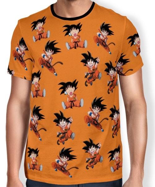 Camisa Full Print Chibi Kid Goku - Dragon Ball Super