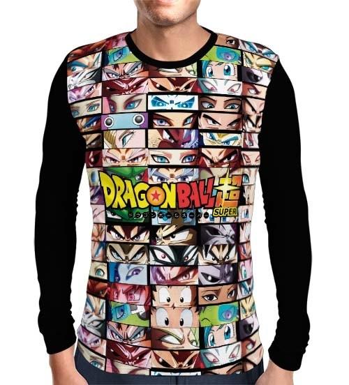Camisa Manga Longa Characters Eyes - Dragon Ball Super